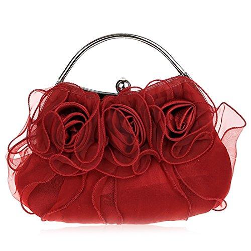 YYW Evening Bag, Poschette giorno donna wine red color