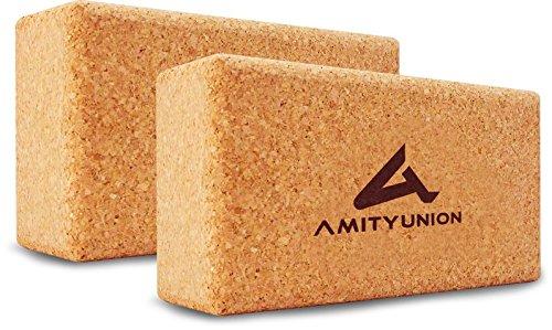 AMITYUNION Yoga Block Kork 2er Set - 22,5 x 12 x 7,5 cm Klotz für...