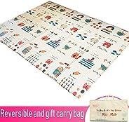 Infant Shining Baby Folding mat Play mat, 200*150CM, Foam playmat Crawling mat Reversible Waterproof Portable