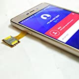 Asteroid India Hybrid Dual SIM Card And Micro SD card Adapter (Gold)