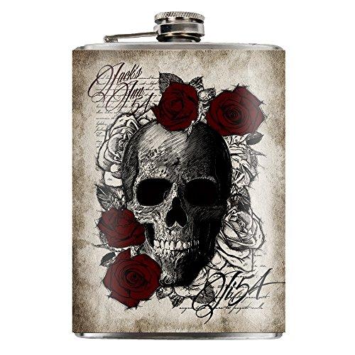 Skull Jack (JACK'S INN 54 Flachmann Skull 'n Roses Flask aus Edelstahl Fassungsvermögen 240ml)
