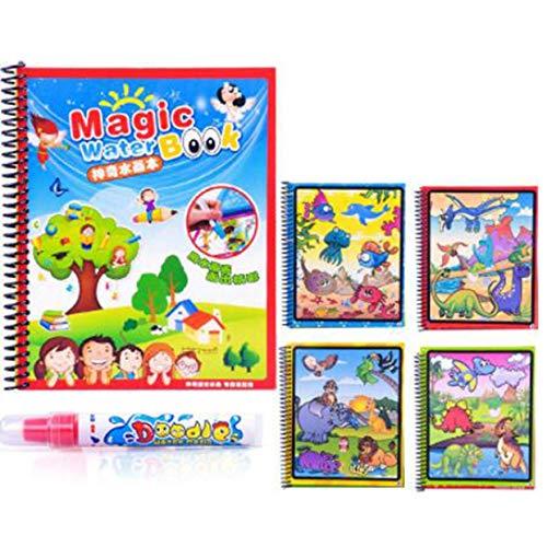 MXECO Magic Water Drawing Book Coloring Book Doodle con Magic Pen Tavolo da Disegno Tavolo da Disegno Giocattolo educativo per Bambini