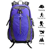 CAMEL CROWN Hiking Backpack Lightweight Travel Packable Durable Waterproof Sports Daypack for Camping