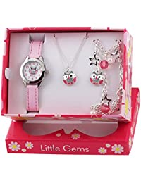 Ravel 'Little Gems' Owl Watch and Silver Plated Jewellery Set.