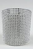 Windlicht Teelichthalter Kerzenhalter Teelicht Windlichthalter Glas ' Diamanten ' Steinchen silber