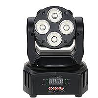 Docooler Mini 4 LED de 50W RGBW Giratorios en Movimiento la Etapa Cabeza Efecto de luz 9/12 Canal DMX512 Activa por Sonido
