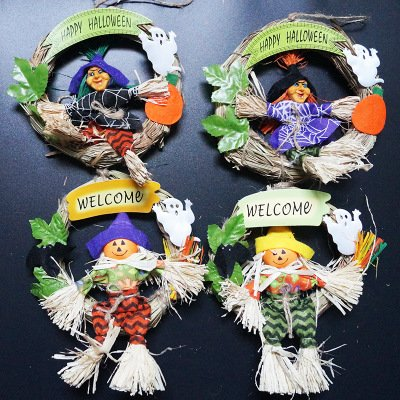 Klassenzimmer Ideen Halloween Party (AAAHOMEEU 5Pcs Halloween-Geschäft-dekorativer Klassenzimmer-Geist-Festival-Tür-hängender Tür-Ring-Zauberer-Geist)