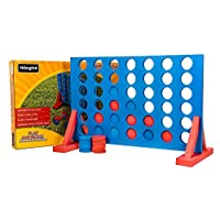 Mega_JumbleSale® Kids Large Giant 4 In A Row Game Garden Connect Four Indoor Outdoor Family Set