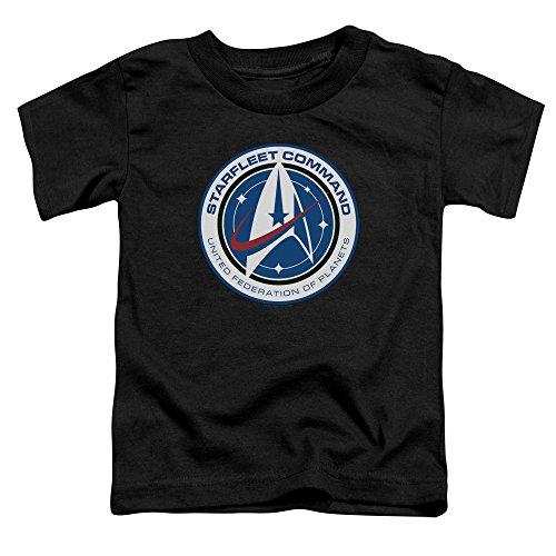 Star Trek Discovery - - Kleinkind Starfleet Command T-Shirt, 2T, Black