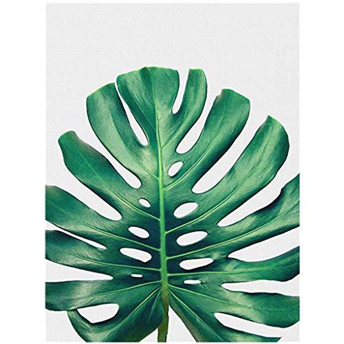 Yooshen Wandbilder Schlafzimmer leinwand Bild ohne Rahmen für zu Hause Moderne Dekoration Pflanze grünes Blatt Muster Bild Schlafzimmer Wohnzimmer Öl Zeichnung (D) -