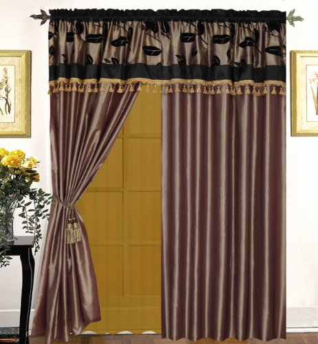 nanshing Brony 7-teilig beflockt Tröster Set, Polyester, taupe, Window