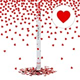Relaxdays Party-Popper mit Herzen 80 cm, 6-8m Effekthöhe, Hochzeitsdeko, Hochzeit Konfetti-Kanone, Hochzeitsdeko, rot