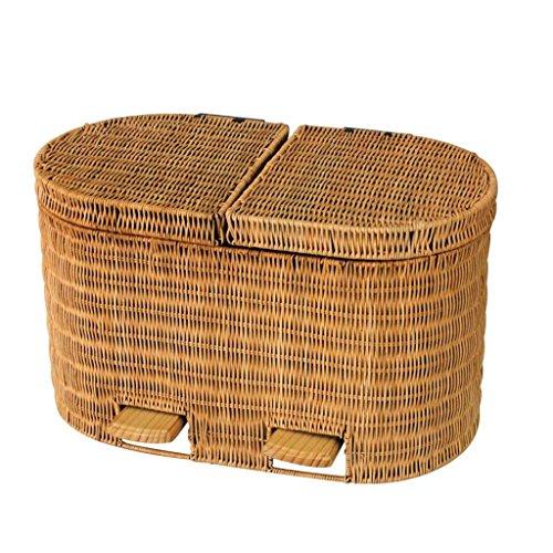 AILI Vintage Webart Sortierung Mülleimer, abnehmbare Wohnzimmer Schlafzimmer Treteimer, Papierkorb 10L (Color : 1)