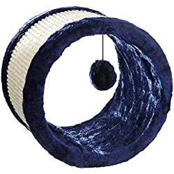 Trixie 4324Juego Túnel Sisal peluche Ã, 23cm/20cm), color azul