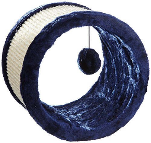 Trixie 4324 Rueda Juego Sisal Peluche, 23 x 20 cm, Azul