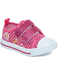 57bf15b8a1f2 Girls Children Kids Canvas Toddlers Shoes Summer Pumps Casual Infants  Trainers Flat Low Top Velcro Touch
