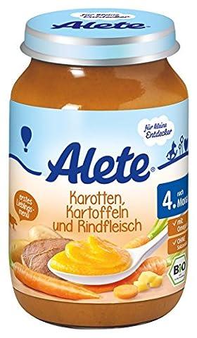 Alete Kartotten Kartoffeln und Rindfleisch, 6er Pack (6 x 190 g)