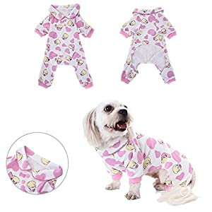 Pyjamas pour chien Vêtements de sommeil Cozy Puppy Doggy Home Wear Pet Dog Cat Zebra Pattern Cotton Leisure & Dumps Jumpsuit by Awhao