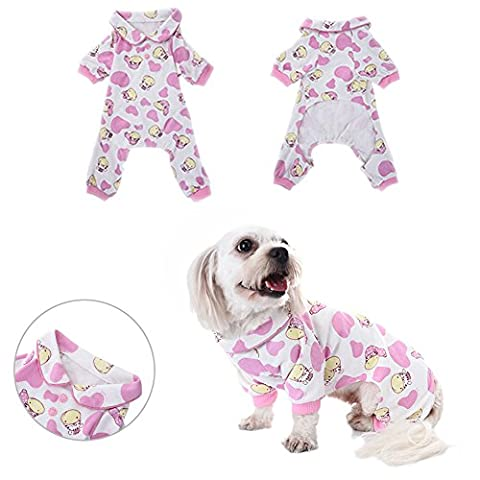 Pyjamas pour chien Vêtements de sommeil Cozy Puppy Doggy Accueil Wear Pet Dog Cat Zebra Pattern Cotton Leisure & Dumps Jumpsuit by Awhao S