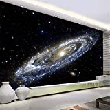 Mddjj Benutzerdefinierte 3D Wandbild Tapete Milchstraße Nebula Universum Schwarzes Loch Thema Tapeten Für Wohnzimmer Schlafzimmer Decke Wandmalerei Wohnzimmer Dekoration-140X100cm