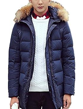 MHGAO Larga capa de los hombres espesa la chaqueta abajo , deep blue , xl