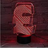 Cadeau Saint Valentin Uk Livre Symbole 3D Led Lampe Intérieur Usb 3D Lumière Couleur Changeable Lampara Bureau Décor Led Nuit Lampe Pour Ami Cadeau D'Affaires