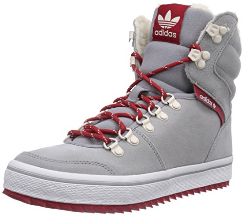 adidas Originals Honey Hill Damen Hohe Sneakers Grau (light onix/power red/ftwr white)