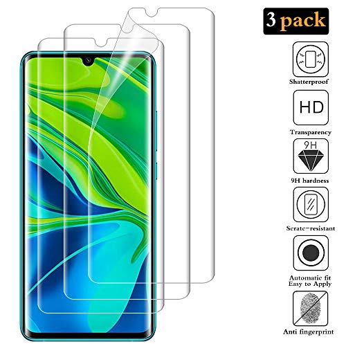 ANEWSIR for Xiaomi Mi Note 10/Mi Note 10 Pro Screen Protector(3 Pcs)【Easy to Apply】【Ultra-thin】【No Bubbles】【Scratch Resistance】 Tempered Glass Screen Protector for Xiaomi Mi Note 10/Mi Note 10 Pro
