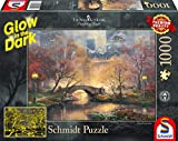 Schmidt Spiele Puzzle 59496 Thomas Kinkade, Central Park im Herbst, Glow in The Dark, 1000 Teile Puzzle, bunt