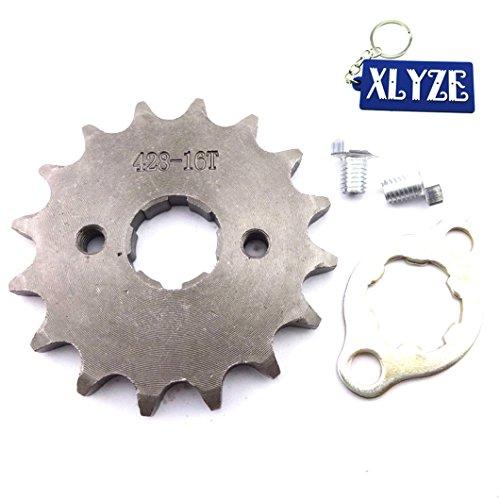 xlyze 42816Z 20mm Getriebe Ritzel vorne Motor für 50cc 70cc 110cc 125cc Quad ATV Schmutz Pit Bike Lifan Yx Loncin Zongshen