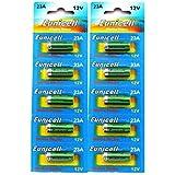 Lot de 10 Piles Alcaline A23 / 23A 12V Eunicell