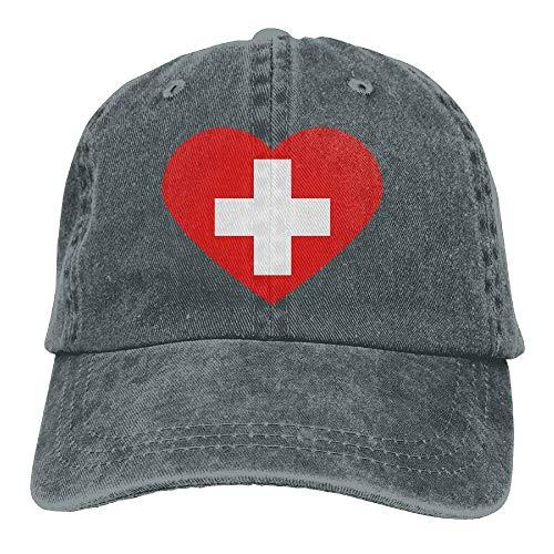 RAINNY Love Switzerland 2c Cowboy Sports Hat Rear Cap Adjustable Cap
