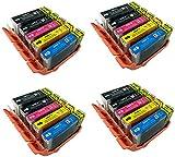 PerfectPrint Compatible Ink Cartridge Replacement for Canon Pixma iP4200 iP4300 iP4500 iP5100 iP5200 iP5200R iP5300 MP500 MP530 MP600 MP600R MP610 MP800 MP800R MP810 PGI-5/CLI-8 (BK/C/M/Y, 20-Pack)