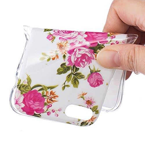 Custodia per iPhone 7 4.7,Cover per iPhone 7 4.7 Silicone,BtDuck Ultra Slim Creativo Nottilucenti Luminoso Flessibile TPU Morbido Silicone Protettiva Cassa Trasparente Piuma Design Crystal Clear Morbi #3