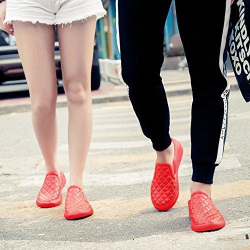 Espadrilles Mixte Adulte Baskets Mode Mocassins Femme Homme Chaussures Plates Noir Blanc Rouge