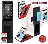 Smartisan T2 Hülle Cover Case in Rot Leder - innovative 4