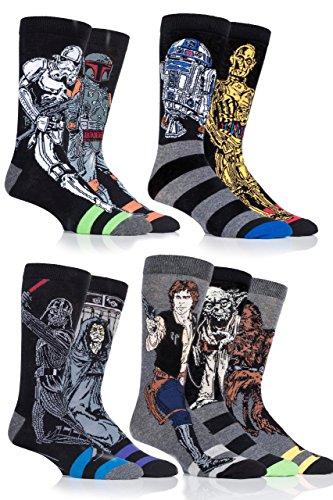 SockShop Star Wars Original Héros et Méchants Chaussettes en coton - 6 paires - Homme - Assorti 39-45