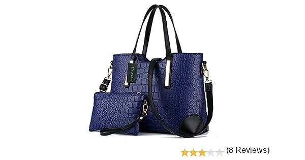 386df44513 Greeniris fille sac main faux cuir femme bourse 2pcs sac à main femme pas  cher Bleu profond: Amazon.fr: Bagages