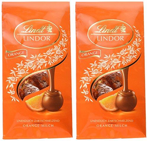 Lindor Beutel Orange-Milch Kugeln, 2er Pack (2 x 137 g)