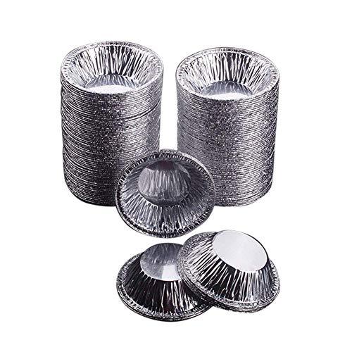 Ktimor Einweg Aluminium-Folie Tassen Backen Muffin Kuchen Zinn Gussform Ei Tartan Form 250 Teile (Uniformen Zinn)