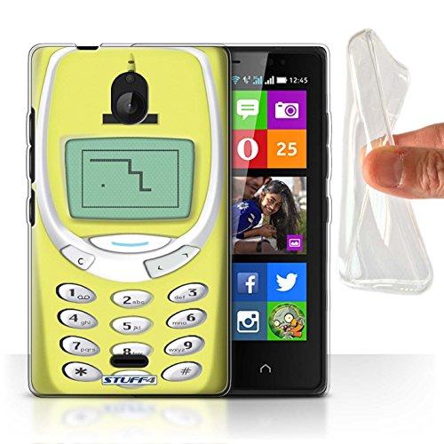 Stuff4® Gel TPU Hülle/Hülle für Nokia X2 Dual SIM/Gelbes Nokia 3310 Muster/Vintage Handys Kollektion