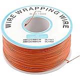 SODIAL(R) PCB Soudure Orange Flexible 0.5mm Dia Exterieur 30AWG Fil Emballage Enveloppe 1000Ft