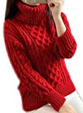 Pull Haut Col Femme Maille Grosse Maille Ample Chaud Mode Sweaters Grosse Tops Sous Feminin Sweater Chandail Tricots Automne Hiver