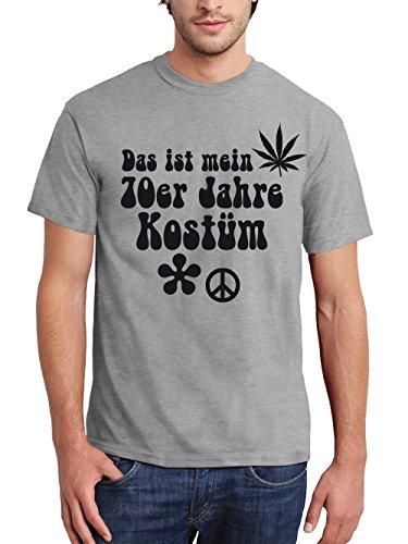 clothinx Herren T-Shirt Karneval Das ist Mein 70er Jahre Kostüm Grau Größe M (70er Jahre Kostüme)