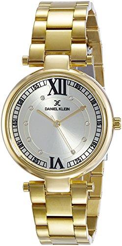 Daniel Klein Analog Gold Dial Women's Watch-DK10914-3 image
