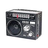 NNS 1361 Güneş Enerjili Bluetooth Nostalji FM Radyo USB/SD/MP3