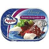 Appel Heringsfilets, zarte Fisch-Filets Tomate Burgunder Art, MSC zertifiziert, 10er Pack (10 x 200 g)