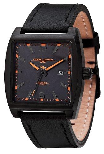 Jorg Gray - JG5200-18 - Montre Homme - Quartz Analogique - Bracelet Cuir Noir