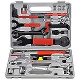 Aufun 44tlg Fahrrad Werkzeug Set, Fahrradwerkzeug Werkzeugkoffer für Montagearbeiten und Reparaturen mit Tragekoffer und Multitool