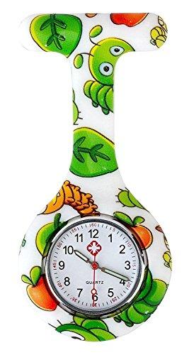 Bug Fashion Kostüm - Boolavard TM Multi Farben Krankenschwester Brosche Fob Tunika Uhr Silikonhülle Krankenschwester Uhren (Bugs)